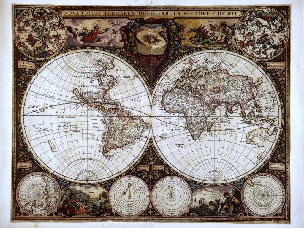 Irina McAuley's Art: Old Map (collection 1