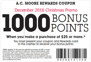free AC Moore coupons december 2016