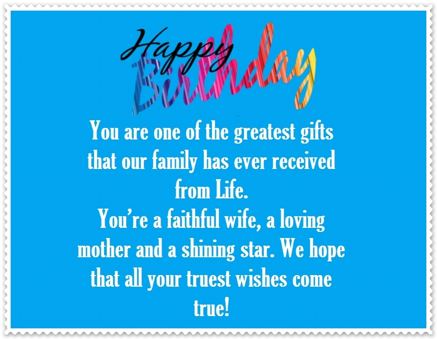Happy Birthday Poem For Daughter In Law