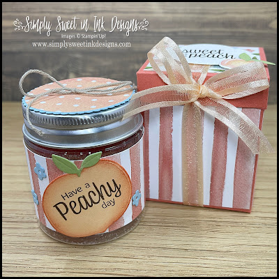 Super sweet Mini Jam Jar gift box with the You're a Peach suite!