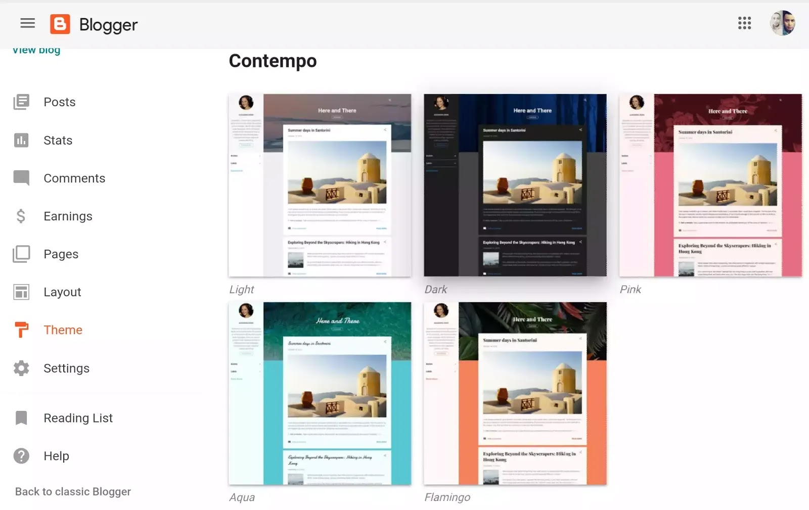 contempo blogger theme