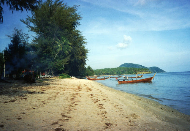 Empty beach on Phuket in 1991