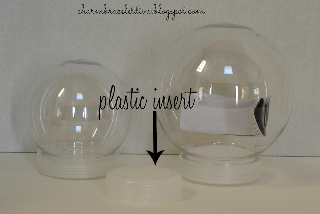 plastic DIY snow globes
