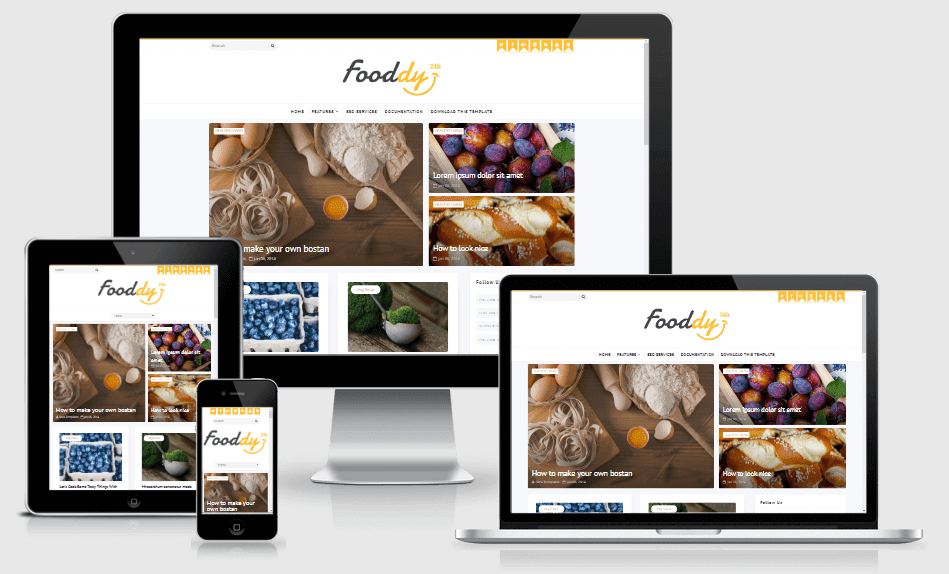 Fooddy - Responsive Food Blogger Template