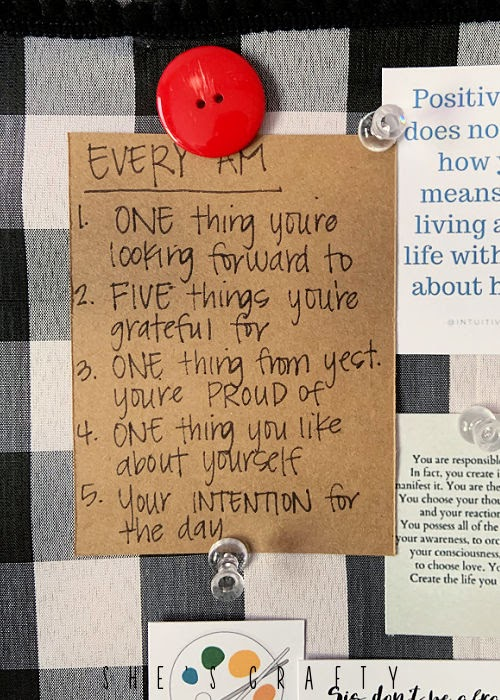 How to Create a Vision Board- reminders of daily practices