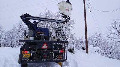 Αποτέλεσμα εικόνας για Τελευταία ενημέρωση από το ΔΕΔΔΗΕ με τις διακοπές ρεύματος στην Εύβοια