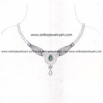 Diamond Necklace Designs