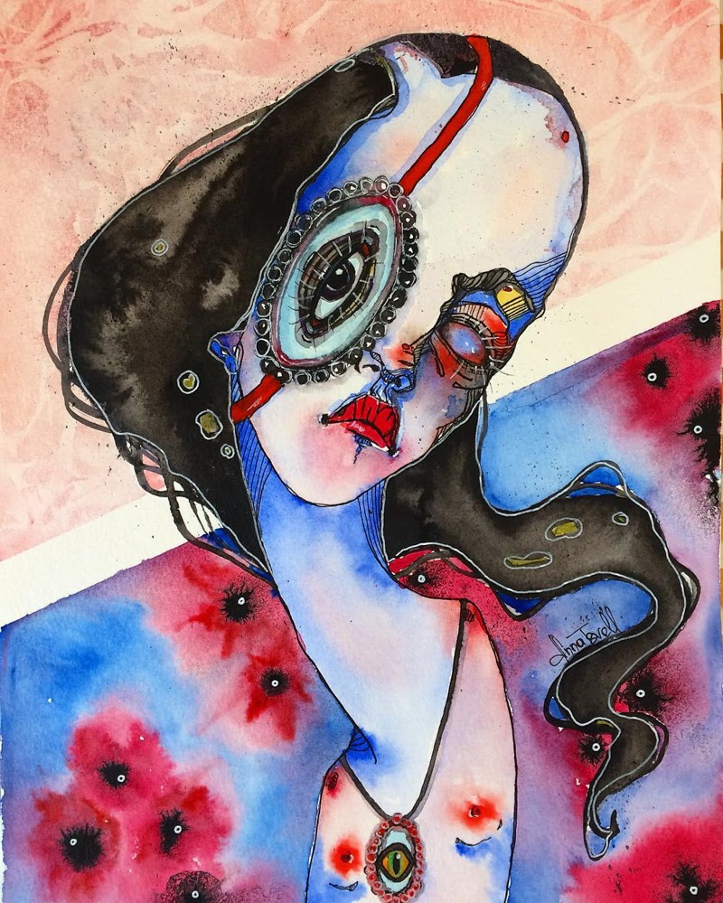 Lovely work of Surrealist Artist Anna Tsvell from Los Angeles.
