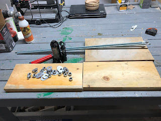 Jack, Rods, Boards, Nuts and Washers