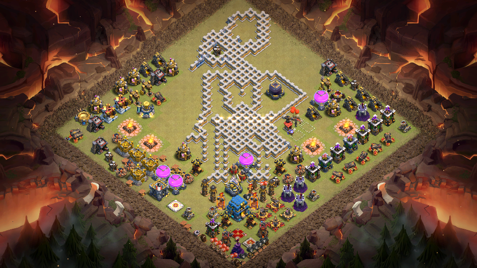Base Th 12 Unik Terbaru Game Coc