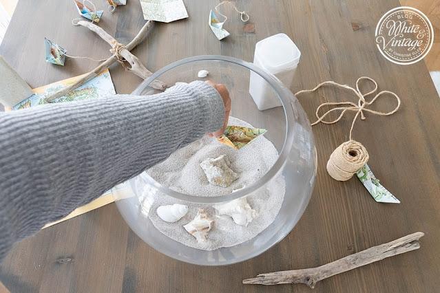 DIY-Sommerdeko mit Kugelvase