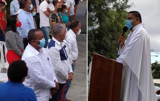 Funcionarios y dirigentes políticos de Santo Domingo Oeste acuden a misa por Día de la Altagracia