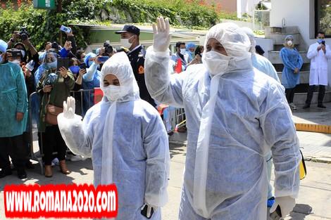 أخبار المغرب دموع الفرح ترافق متماثلين للشفاء من فيروس كورونا المستجد covid-19 corona virus كوفيد-19 بالدار البيضاء