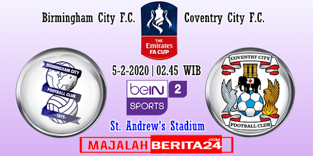 Prediksi Birmingham City vs Coventry City — 5 Feberuari 2020