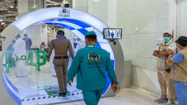 Segera Dibuka untuk Umum, Masjidil Haram Dipasangi Bilik Disinfektan Canggih dan Kamera Thermal