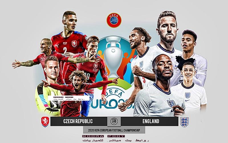 موعد مباراة إنجلترا والتشيك في بطولة يورو 2020