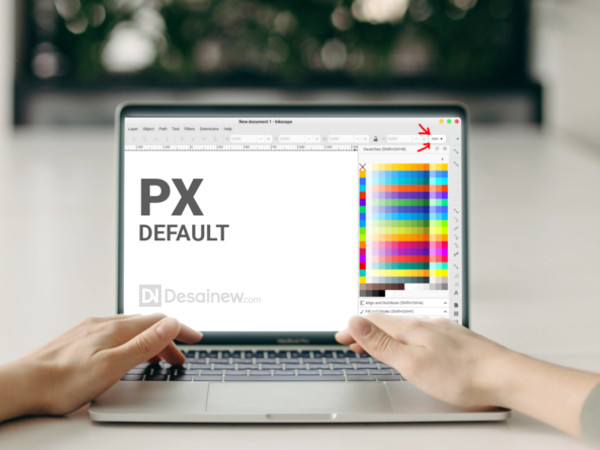 How to set PX size by default in Inkscape Desainew