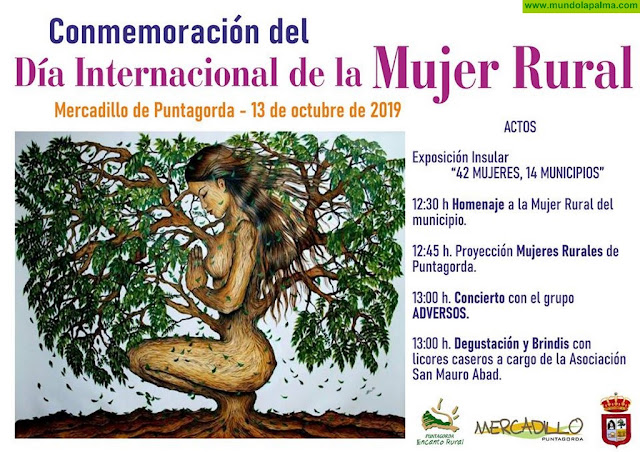 Día Internacional de la Mujer Rural en el Mercadillo de Puntagorda