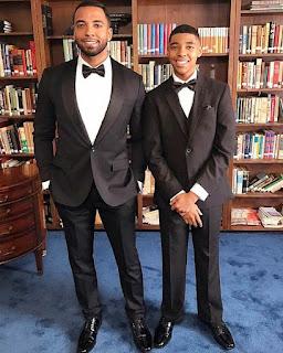 Christian Keyes with his son Christian Jr