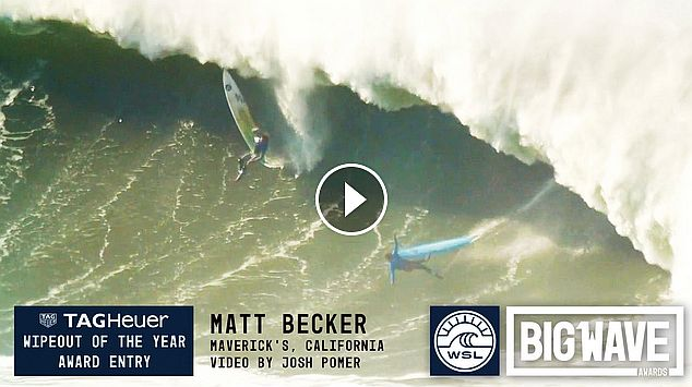 Matt Becker at Maverick s - 2016 TAG Heuer Wipeout of the Year Entry - WSL Big Wave Awards