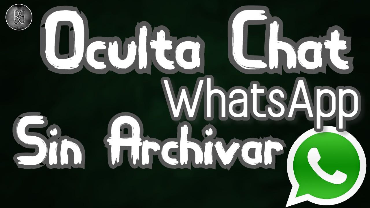 Ocultar Chat en WhatsApp