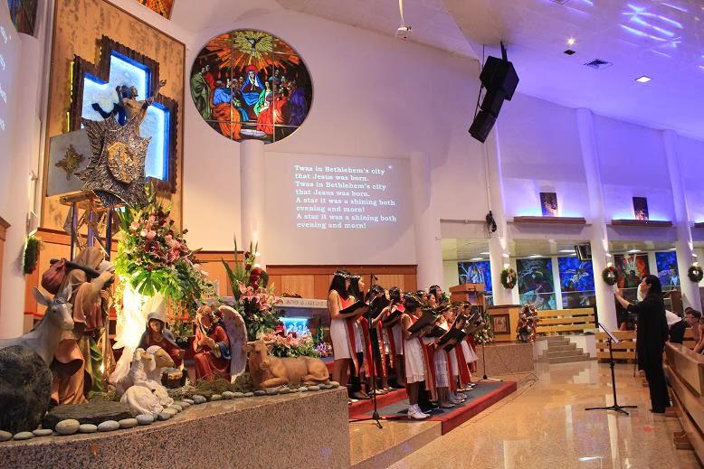 Children's Choir singing at Holy Trinity Church on Christmas Eve