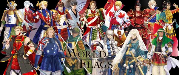 karakter anime negara dan bendera peserta olimpiade tokyo 2020