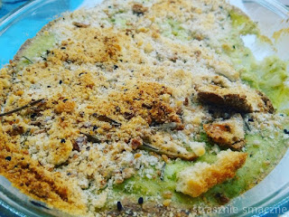 Kalafior zapiekany pod brokułowym beszamelem wg Jamiego Oliviera