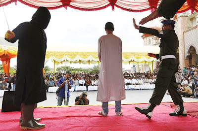 Public caning in Aceh, Indonesia (file photo)