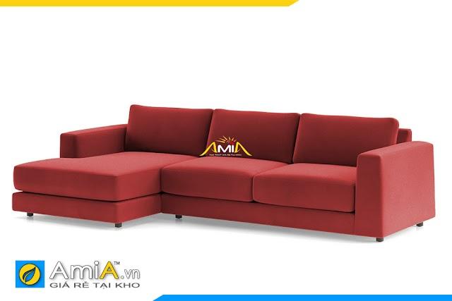 Mẫu ghế sofa góc bọc nỉ đẹp cho nhà phố AmiA 20228 (+400 màu)