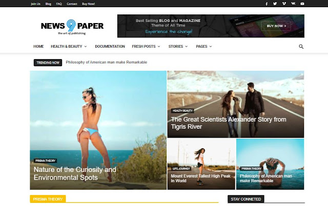 Newspaper 9 Blogger Templates Full Responsive Seo Friendly Themes