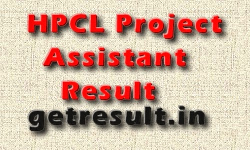 HPCL Result 2014 for Project Assistant Check Online