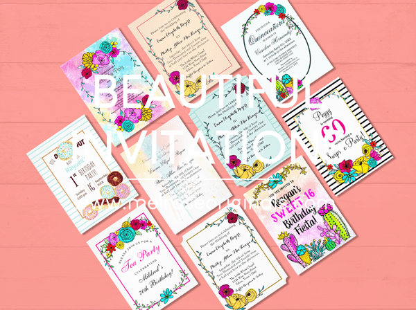 product image of beautiful fully customizable invitations for any occasion from Melrose originals