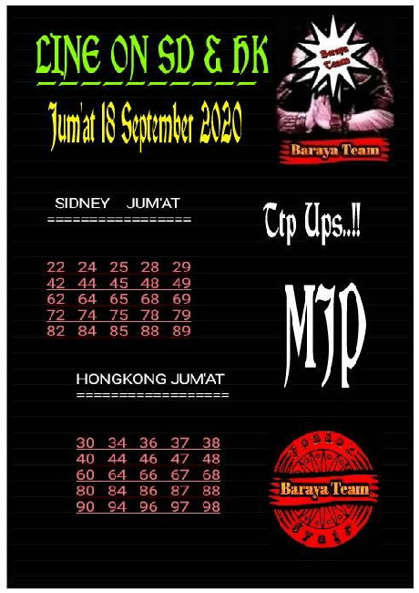 Kode syair Hongkong Sabtu 19 September 2020 88