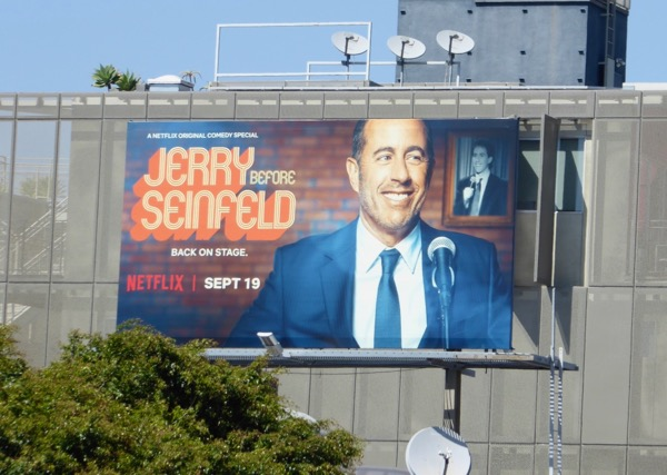 Jerry Before Seinfeld comedy special billboard