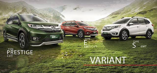 Perbedaan Tipe Honda BR-V S,E dan Prestige