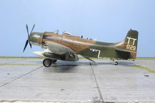 Photos de la maquette de  l'A-1J Skyraider de Tamiya au 1/48.