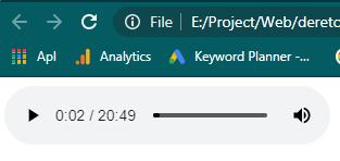 Cara memutar audio di html