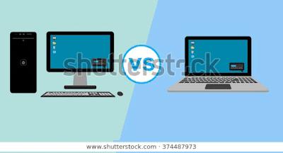 ilustrasi cpu vs laptop