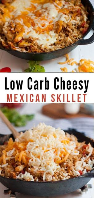 Wonderful Low Carb Cheesy Mexican Chicken Skillet Recipe