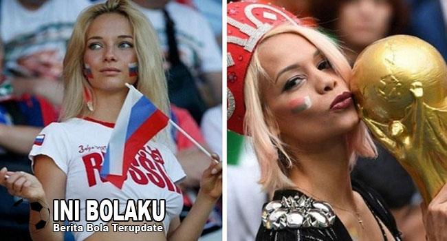 Potret Cantiknya Suporter Rusia Di Laga Pembuka Piala Dunia 2018