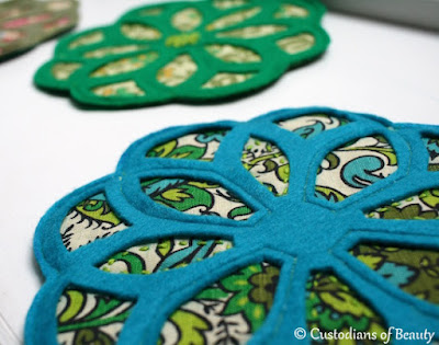 Blue Vintage Trivet | DIY Coasters by CustodiansofBeauty.blogspot.com