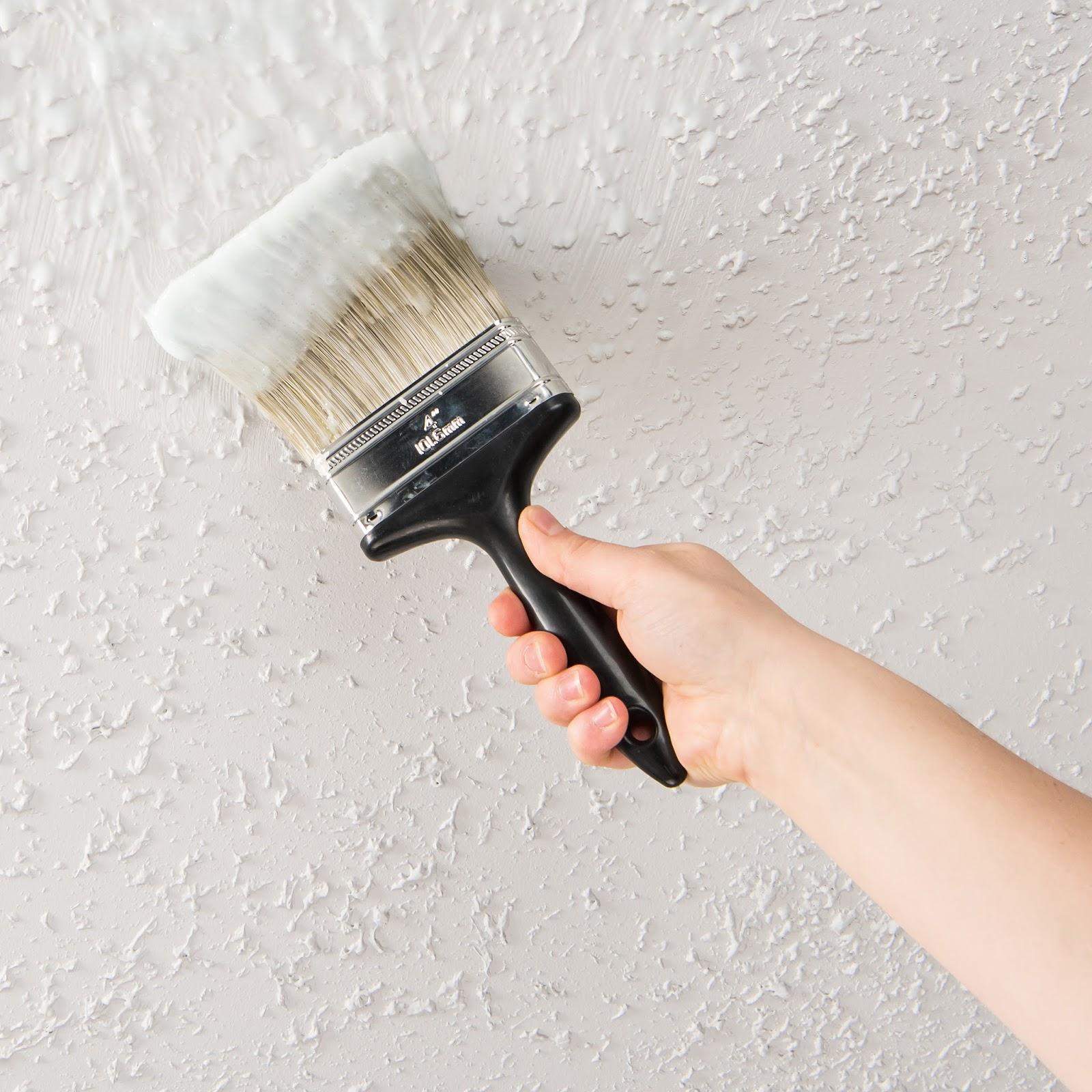 EZ Strip Blog: DIY Home Update: Painted Popcorn Ceiling Removal