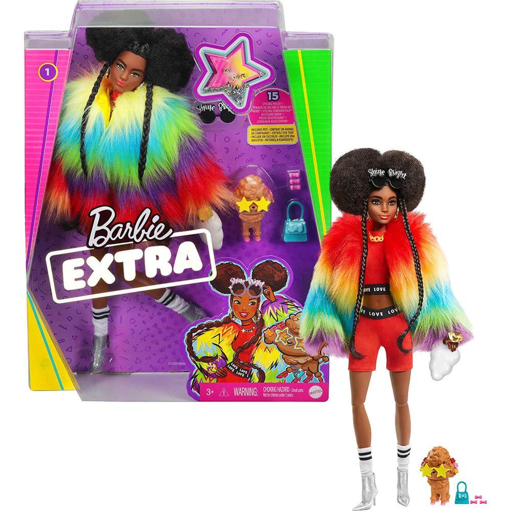 Кукла Barbie Extra Rainbow Coat