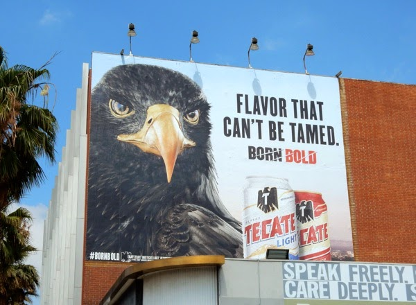 Flavor that cant be tamed Tecate beer billboard