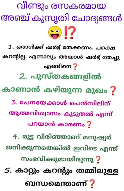 Kusruthi Chodyangal 2020 with Answer