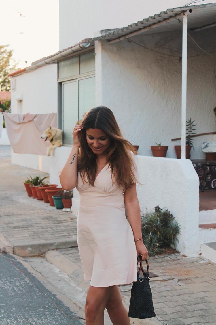 look vestido rosa zara verano blog moda