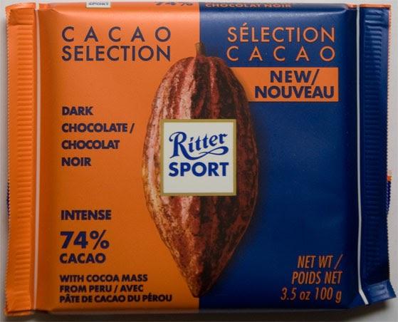 Choco Check Ritter Sport Peru Intense 74 Cacao