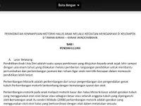 [Print] Contoh Proposal PTK PAUD/TK tentang Motorik Halus