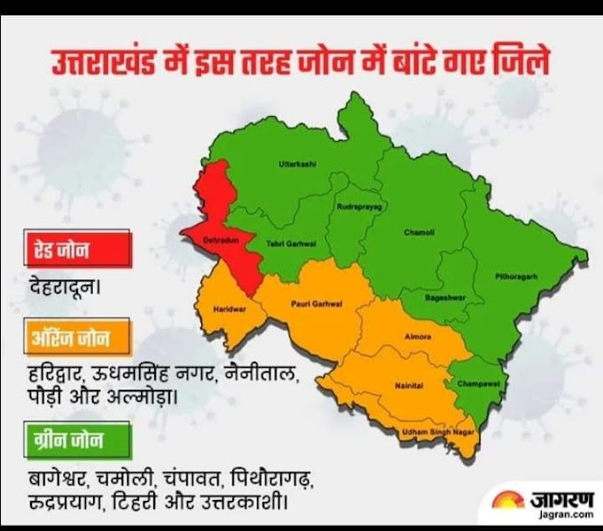 इस तरह जोन में बांटे गए उत्तराखंड के जिले-देखें आपका जिला कौन से जोन में है-देखें पूरी खबर